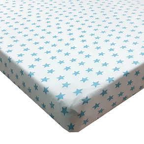 סדין למיטת תינוק מודפס כוכבים צבעים שונים