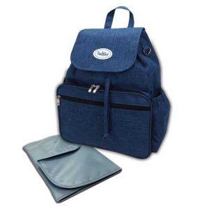 תיק גב עם משטח החתלה BackUp / טוויגי Twigy כחול