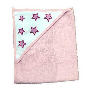 מגבת קפוצ'ון עבה במיוחד – כוכבים ורודים
