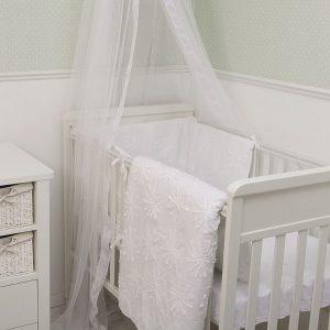 """סט מיטת תינוק סט מצעים """"toTs"""" פרח לבן"""