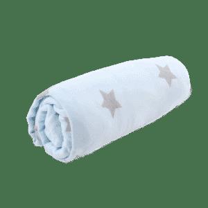 סדין למיטת תינוק ומעבר תכלת כוכבים מיננה