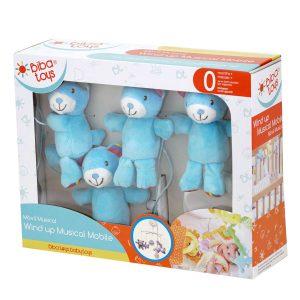 מובייל מוסיקלי – Happy Bear Musical Mobile ביבה טויס Biba Toys