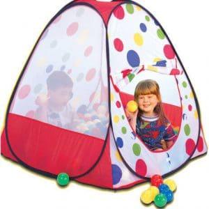 אוהל משחק לילדים + 100 כדורים