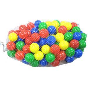 100 כדורי משחק צבעוניים בשק רשת