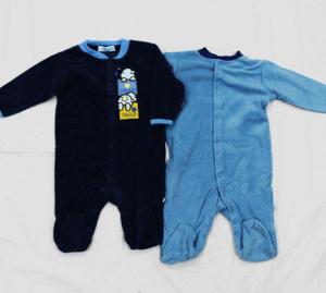 זוג אוברולים לתינוק פליז (עד מידה 18 חודשים)