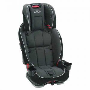 כסא בטיחות גרקו GRACO SLIMFIT 3 IN 1 סלימפיט אפור שחור